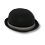 Wear Black bowler hat.png